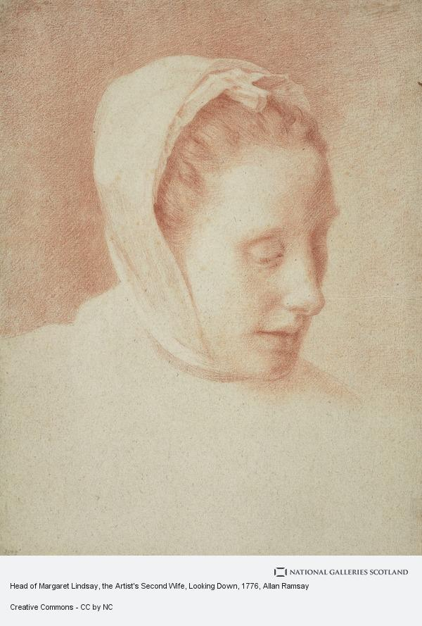 Allan Ramsay, Head of Margaret Lindsay, the Artist's Second Wife, Looking Down