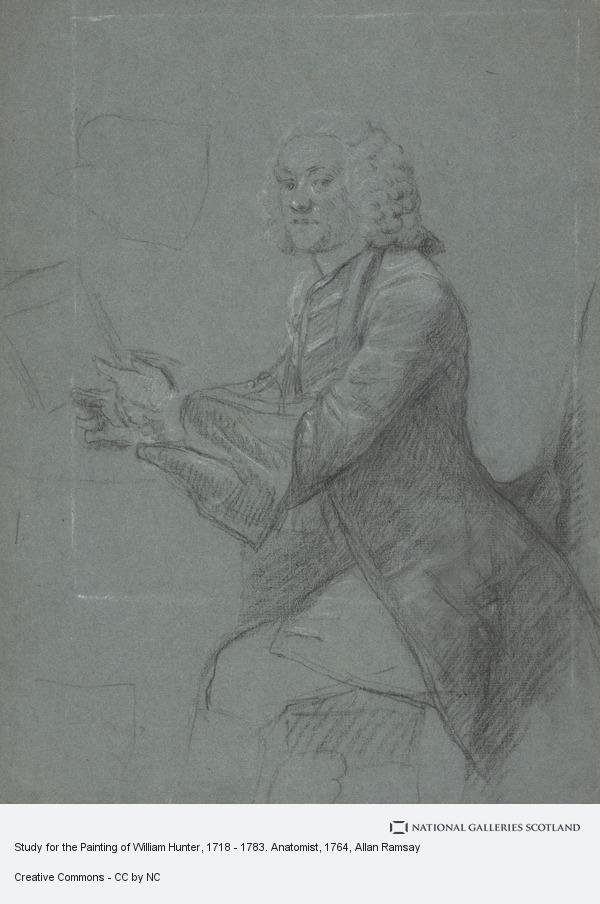 Allan Ramsay, Study for the Painting of William Hunter, 1718 - 1783. Anatomist (About 1764)