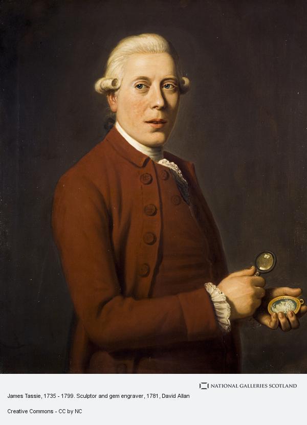 David Allan, James Tassie, 1735 - 1799. Sculptor and gem engraver (About 1781)