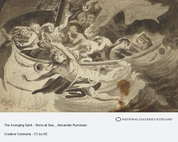 Alexander Runciman, The Avenging Spirit - Storm at Sea