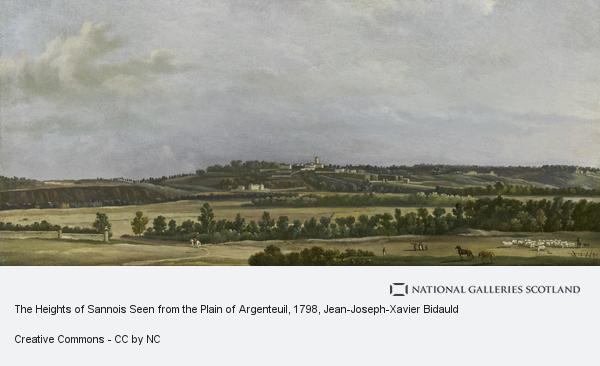 Jean-Joseph-Xavier Bidauld, The Heights of Sannois Seen from the Plain of Argenteuil (About 1798)