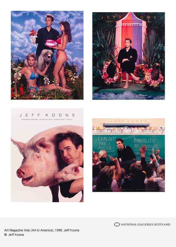 Jeff Koons, Art Magazine Ads (Art in America) (1988-1989)