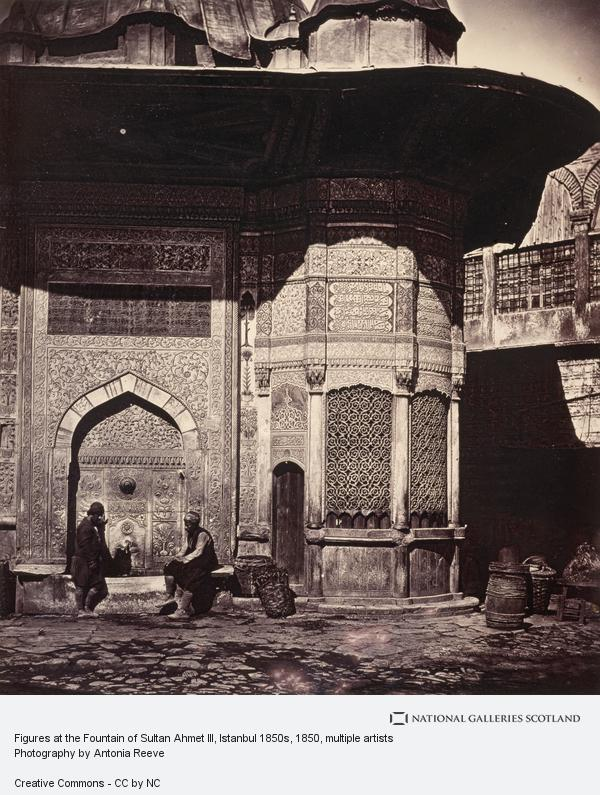 James Robertson, Figures at the Fountain of Sultan Ahmet III, Istanbul 1850s