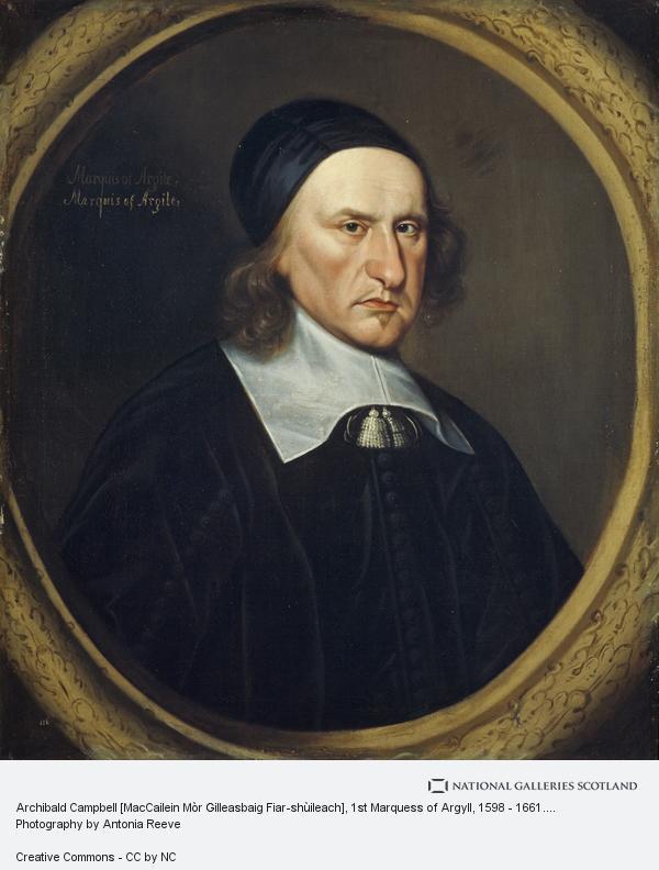 David Scougall, Archibald Campbell [MacCailein Mòr Gilleasbaig Fiar-shùileach], 1st Marquess of Argyll, 1598 - 1661. Statesman