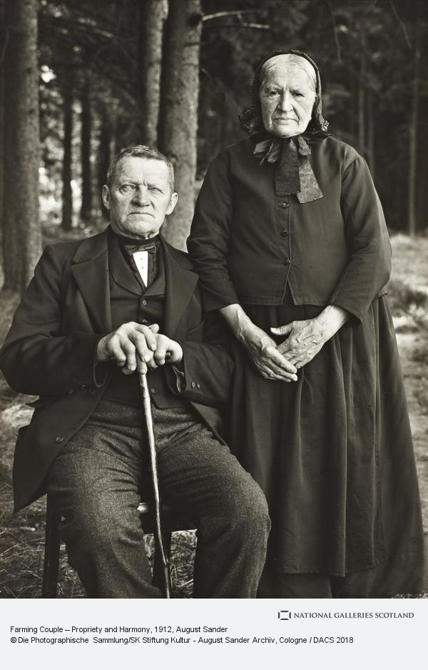 August Sander, Farming Couple – Propriety and Harmony, 1912 (1912)