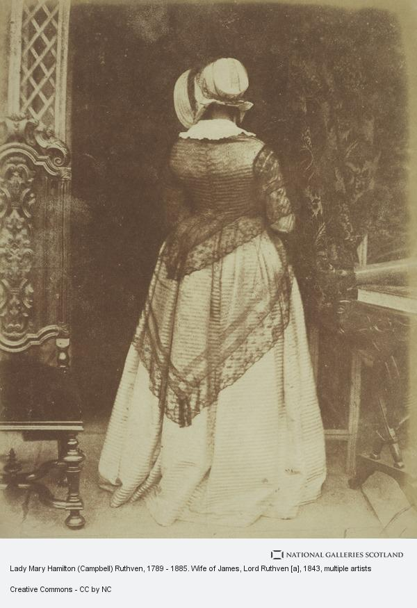 David Octavius Hill, Lady Mary Hamilton (Campbell) Ruthven, 1789 - 1885. Wife of James, Lord Ruthven [a]
