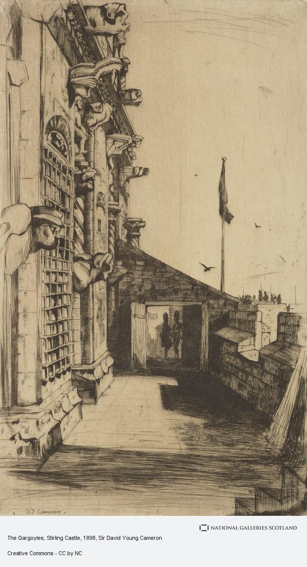 Sir David Young Cameron, The Gargoyles, Stirling Castle