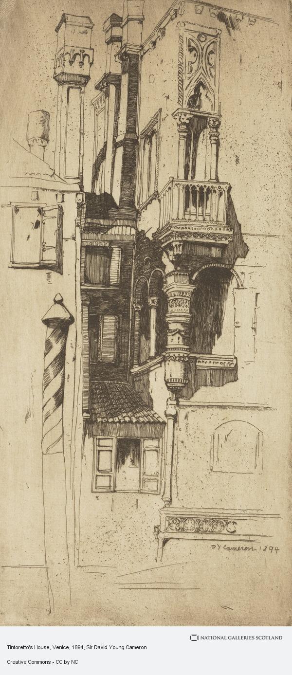 Sir David Young Cameron, Tintoretto's House, Venice