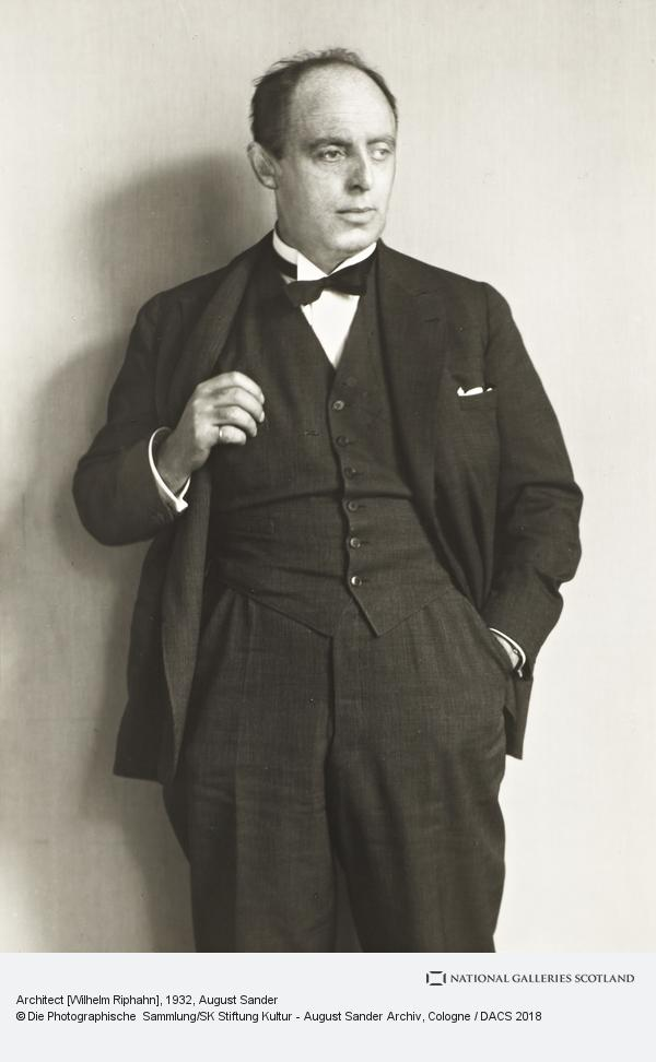 August Sander, Architect [Wilhelm Riphahn], about 1932 (about 1932)