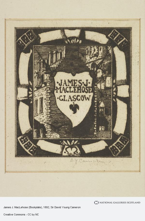 Sir David Young Cameron, James J. MacLehose (Bookplate)