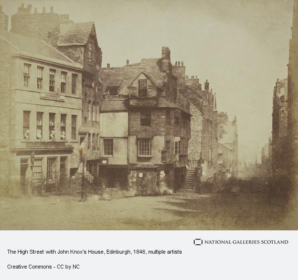 David Octavius Hill, The High Street with John Knox's House, Edinburgh