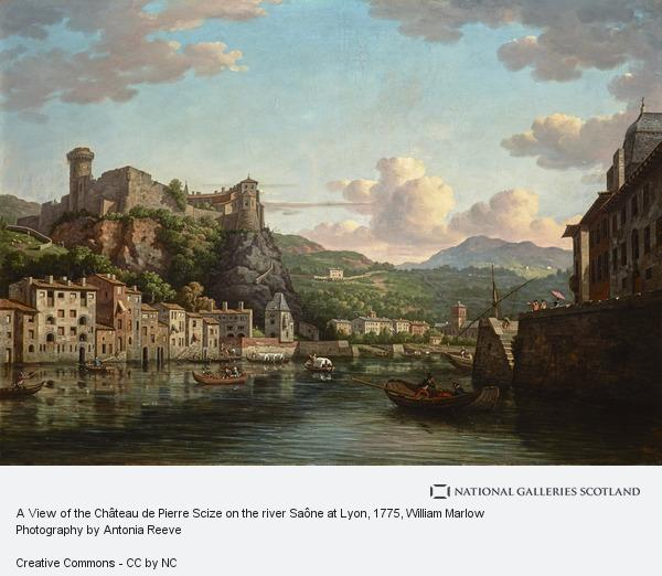 William Marlow, A View of the Château de Pierre Scize on the river Saône at Lyon ()