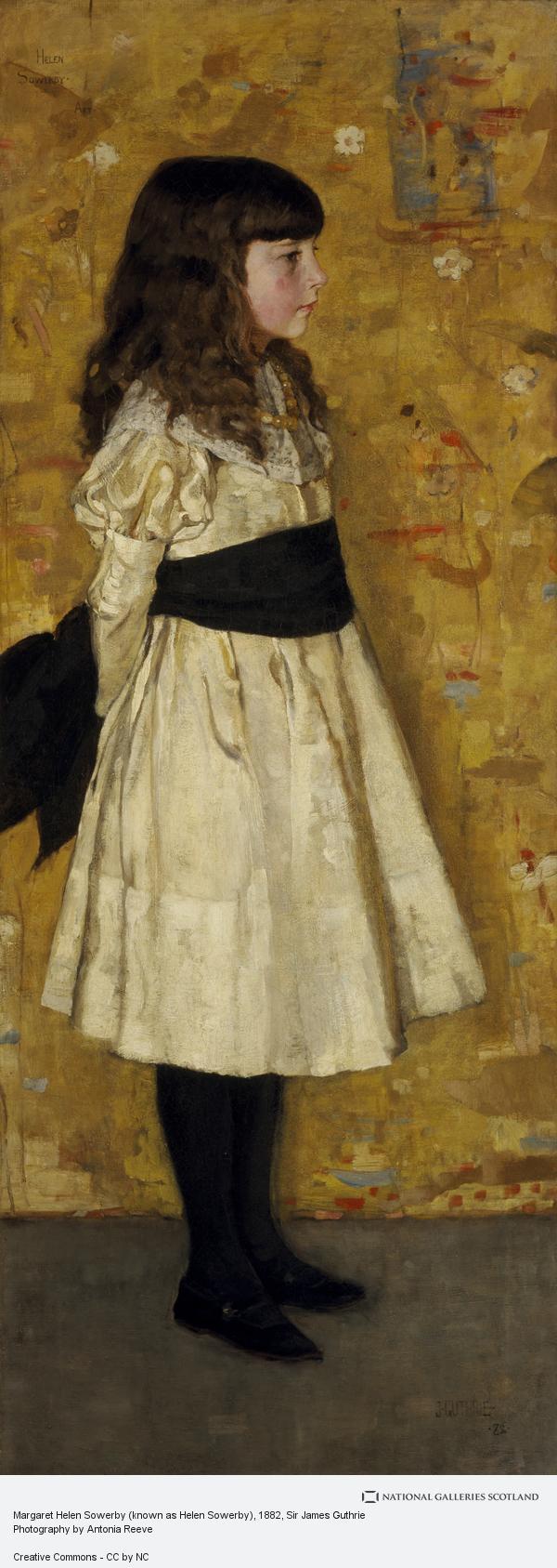 Sir James Guthrie, Margaret Helen Sowerby (known as Helen Sowerby)