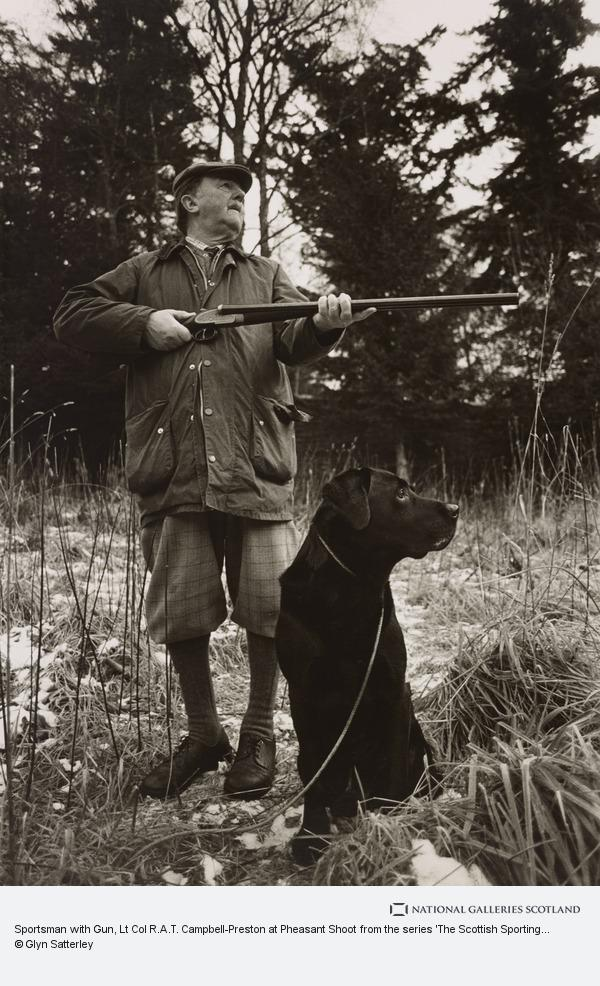 Glyn Satterley, Sportsman with Gun, Lt Col R.A.T. Campbell-Preston at Pheasant Shoot from the series 'The Scottish Sporting Estates'