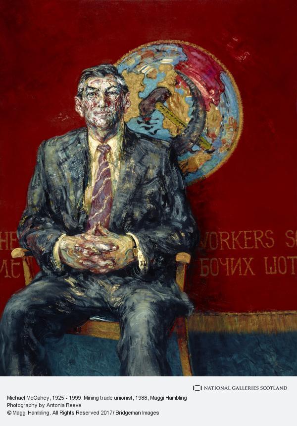 Maggi Hambling, Michael McGahey, 1925 - 1999. Mining trade unionist