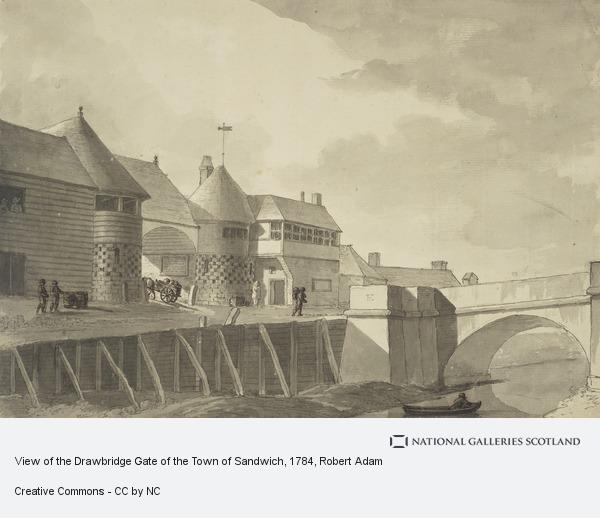 Robert Adam, View of the Drawbridge Gate of the Town of Sandwich