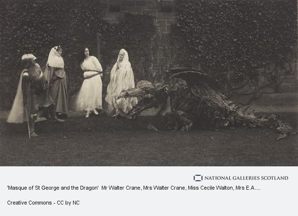 Edward Drummond Young, 'Masque of St George and the Dragon'  Mr Walter Crane, Mrs Walter Crane, Miss Cecile Walton, Mrs E.A. Walton