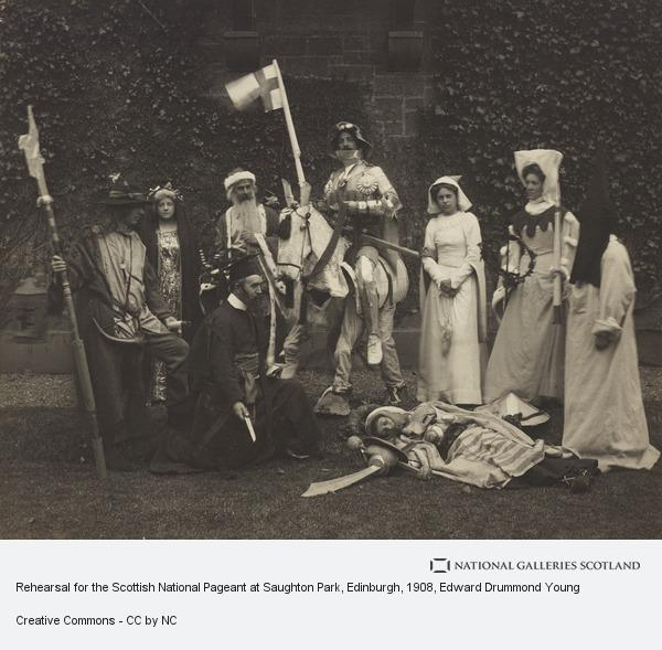 Edward Drummond Young, Rehearsal for the Scottish National Pageant at Saughton Park, Edinburgh