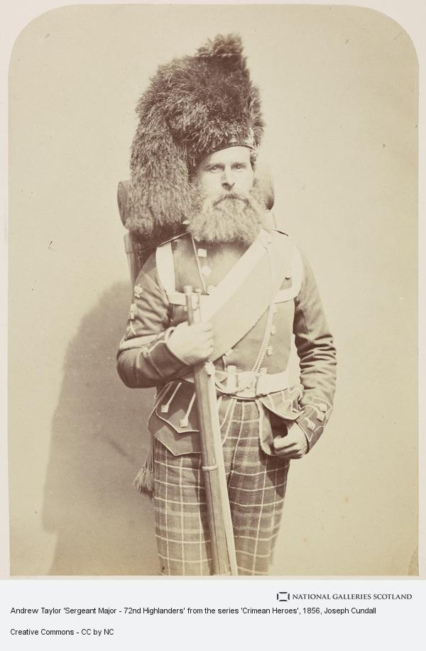 Joseph Cundall, Andrew Taylor 'Sergeant Major - 72nd Highlanders' from the series 'Crimean Heroes'