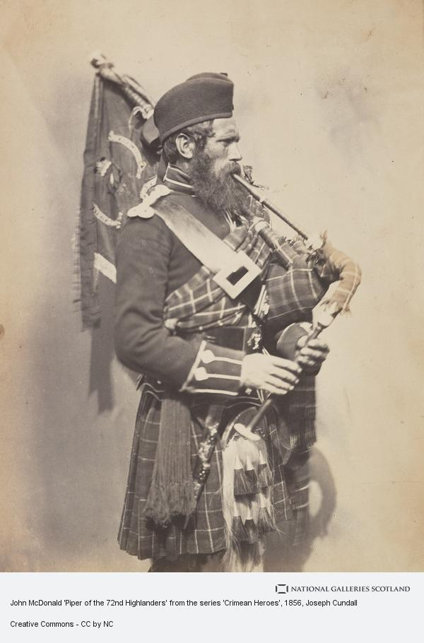 Joseph Cundall, John McDonald 'Piper of the 72nd Highlanders' from the series 'Crimean Heroes'