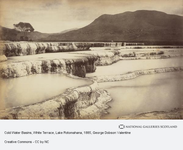 George Dobson Valentine, Cold Water Basins, White Terrace, Lake Rotomahana