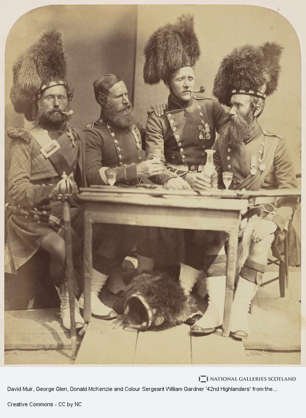 Joseph Cundall, David Muir, George Glen, Donald McKenzie and Colour Sergeant William Gardner '42nd Highlanders' from the series 'Crimean Heroes'
