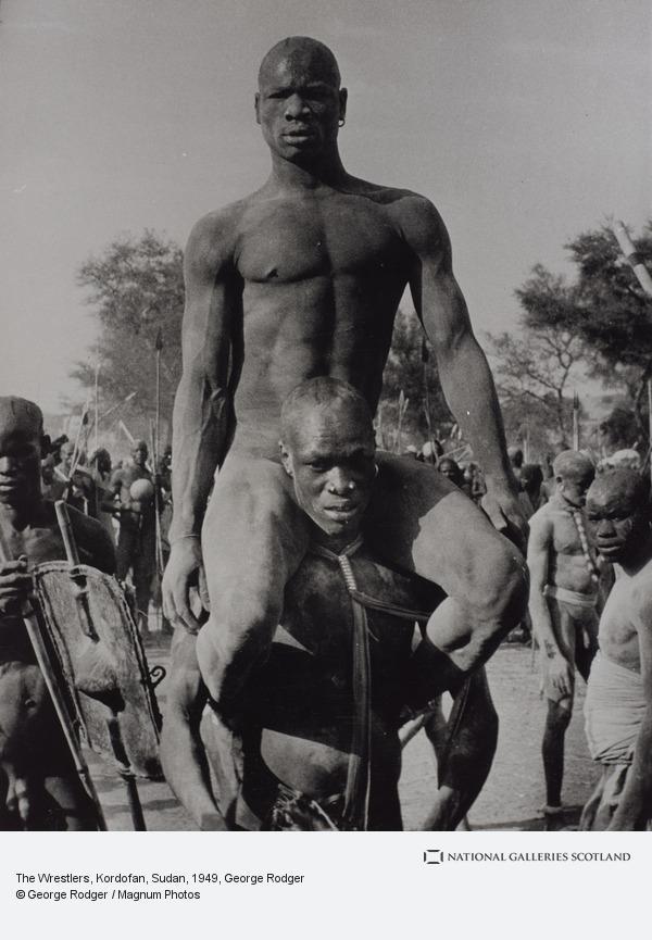 George Rodger, The Wrestlers, Kordofan, Sudan