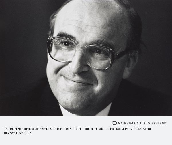 Adam Elder, The Right Honourable John Smith Q.C. M.P., 1938 - 1994. Politician; leader of the Labour Party (1992)
