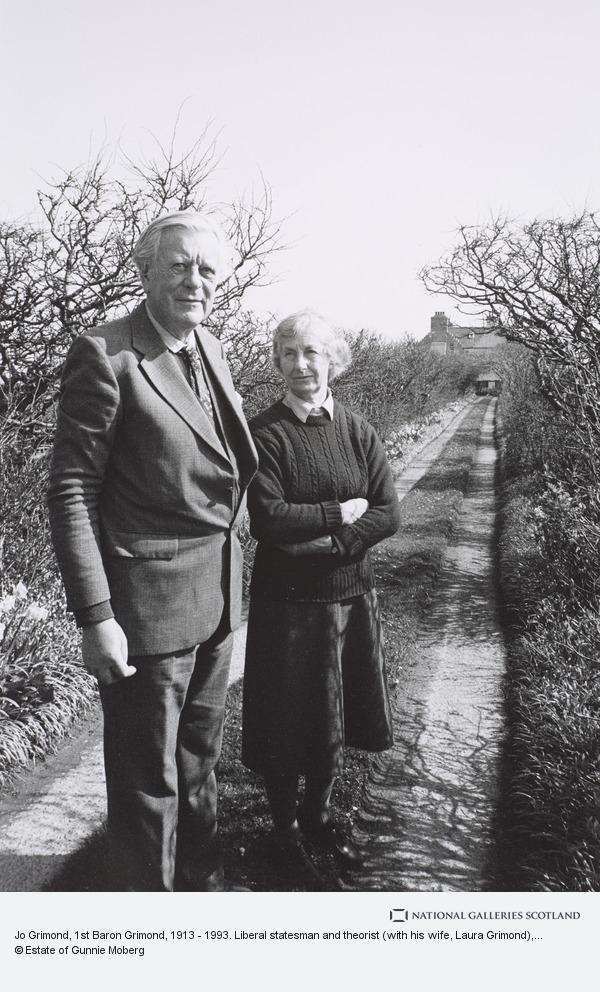 Gunnie Moberg, Jo Grimond, 1st Baron Grimond, 1913 - 1993. Liberal statesman and theorist (with his wife, Laura Grimond)