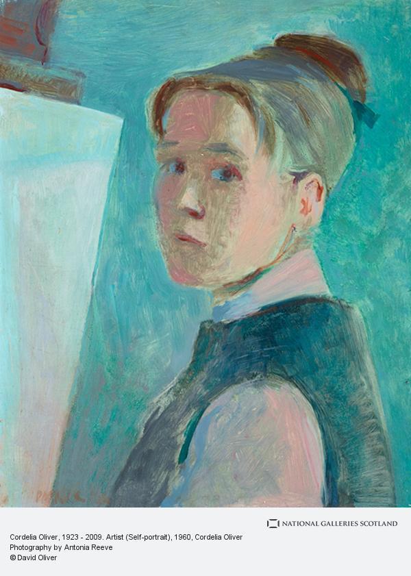 Cordelia Oliver, Cordelia Oliver, 1923 - 2009. Artist (Self-portrait)