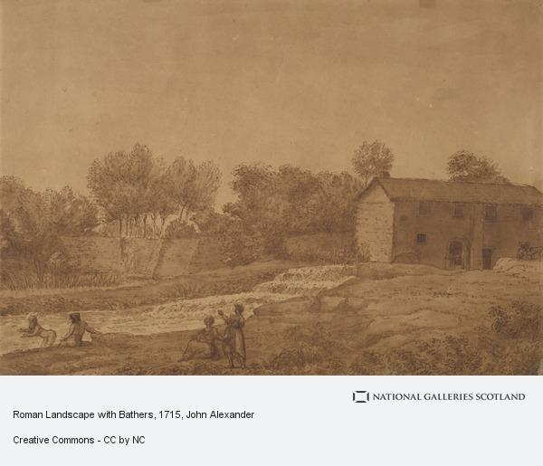 John Alexander, Roman Landscape with Bathers