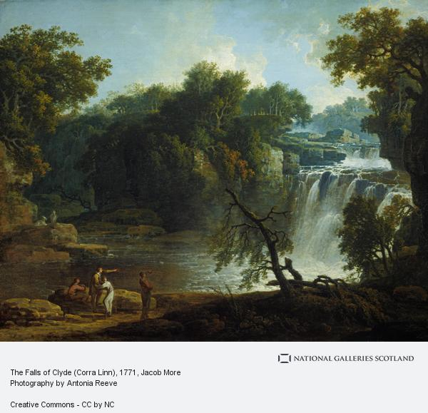 Jacob More, The Falls of Clyde (Corra Linn) (probably 1771)