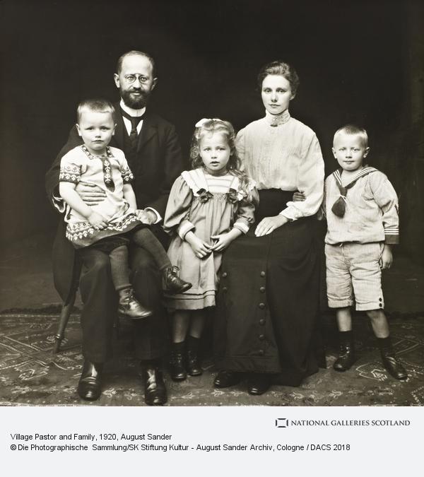 August Sander, Village Pastor and Family, 1920-5 (1920 - 1925)