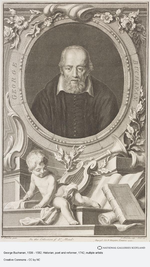 Jacobus Houbraken, George Buchanan, 1506 - 1582. Historian, poet and reformer