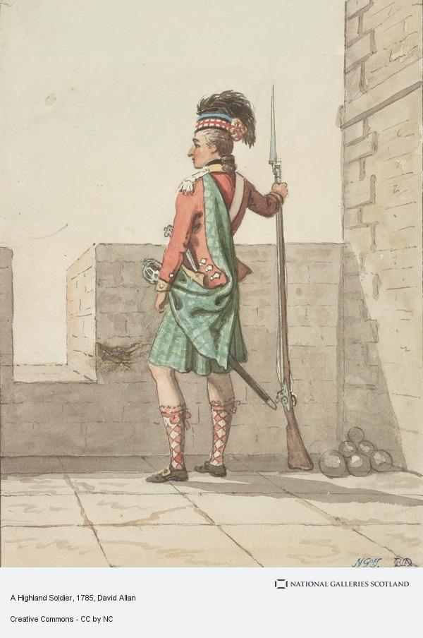 David Allan, A Highland Soldier (About 1785)