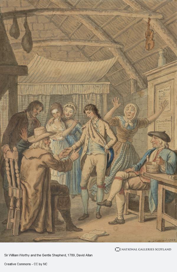 David Allan, Sir William Worthy and the Gentle Shepherd