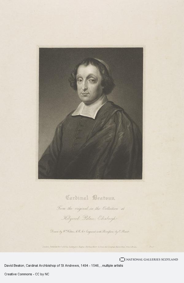 Charles Picart, David Beaton, Cardinal Archbishop of St Andrews, 1494 - 1546