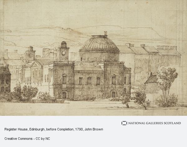 John Brown, Register House, Edinburgh, before Completion