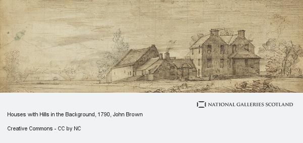 John Brown, Houses with Hills in the Background