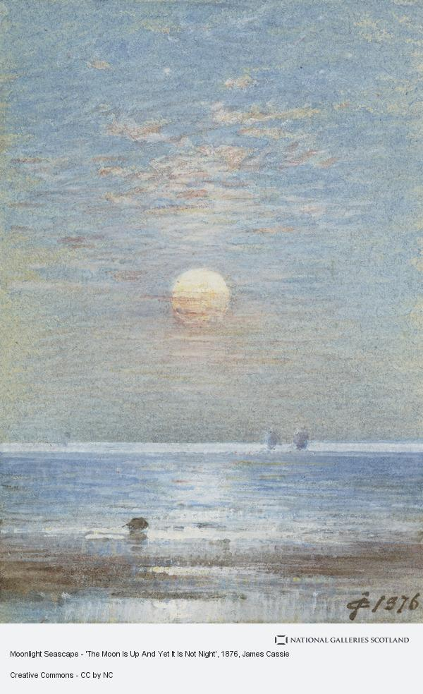 James Cassie, Moonlight Seascape - 'The Moon Is Up And Yet It Is Not Night'