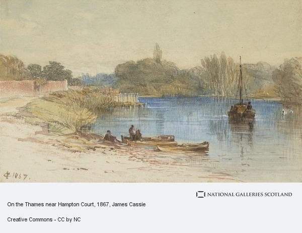 James Cassie, On the Thames near Hampton Court