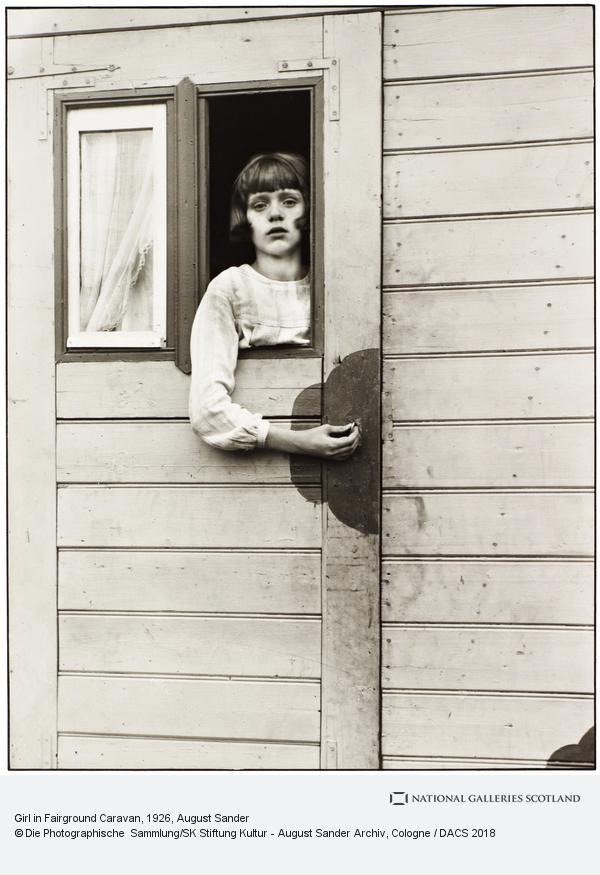 August Sander, Mädchen im Kirmeswagen [Girl in Fairground Caravan], 1926-32 (1926 - 1932)