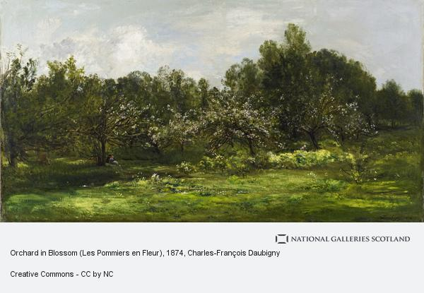 Charles-Francois Daubigny, Orchard in Blossom (Les Pommiers en Fleur) (1874)