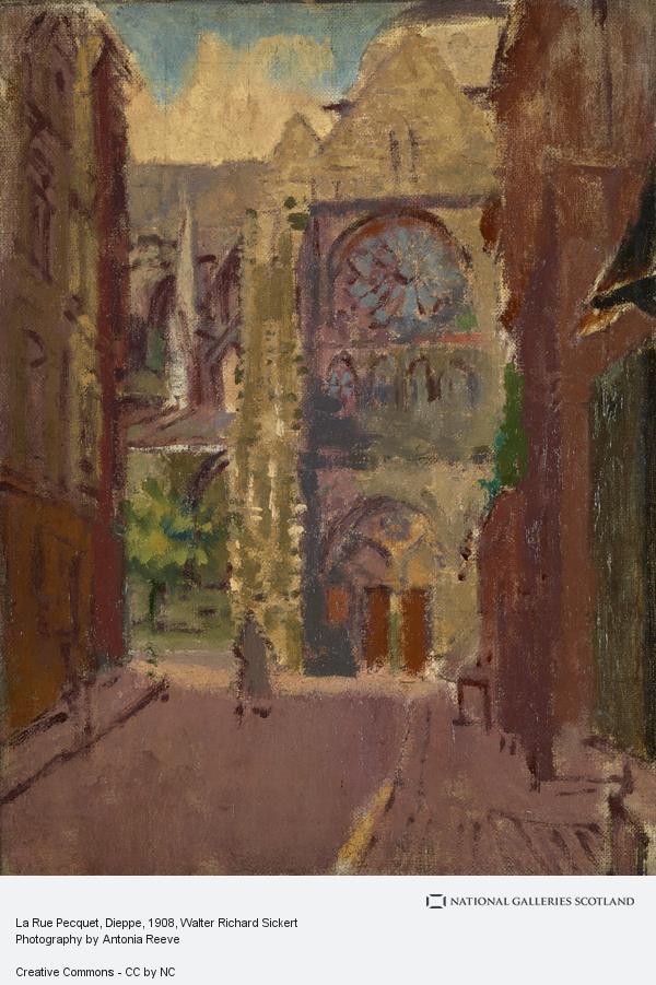 Walter Richard Sickert, La Rue Pecquet, Dieppe
