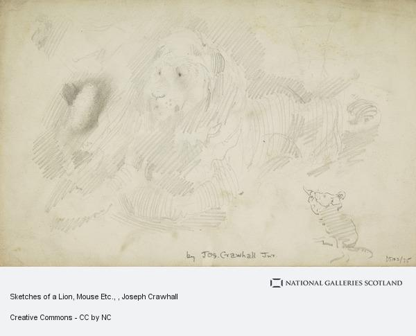 Joseph Crawhall, Sketches of a Lion, Mouse Etc.
