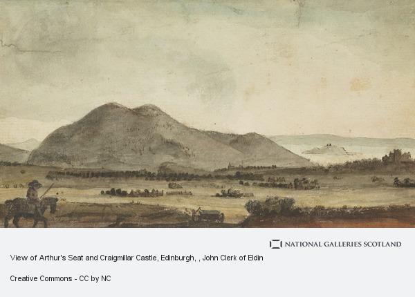 John Clerk, View of Arthur's Seat and Craigmillar Castle, Edinburgh