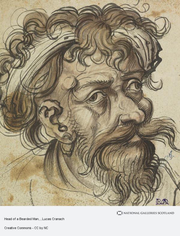 Lucas Cranach, Head of a Bearded Man