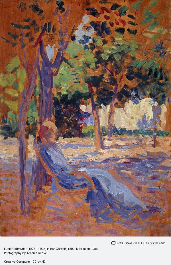 Maximilien Luce, Lucie Cousturier (1876 - 1925) in her Garden