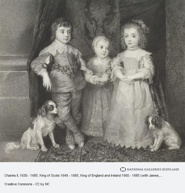 Sir Robert Strange, Charles II, 1630 - 1685. King of Scots 1649 - 1685, King of England and Ireland 1660 - 1685 (with James, Duke of York and Princess Mary)