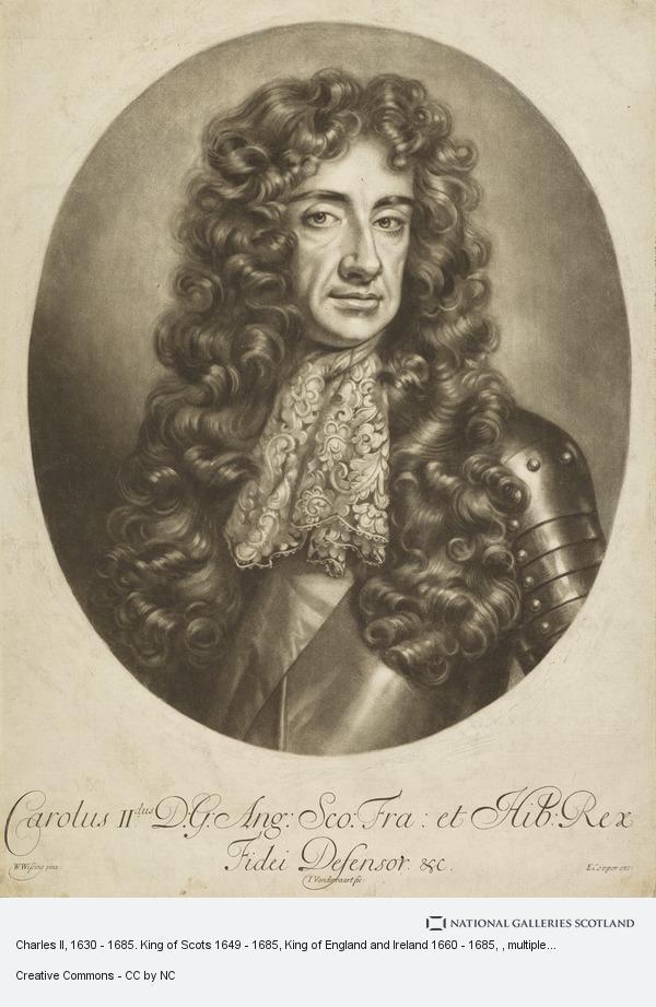 Jan van der Vaardt, Charles II, 1630 - 1685. King of Scots 1649 - 1685, King of England and Ireland 1660 - 1685